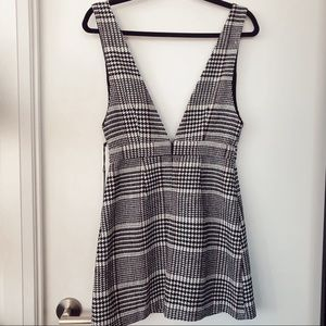 NWT Houndstooth Pinafore/Overall Dress
